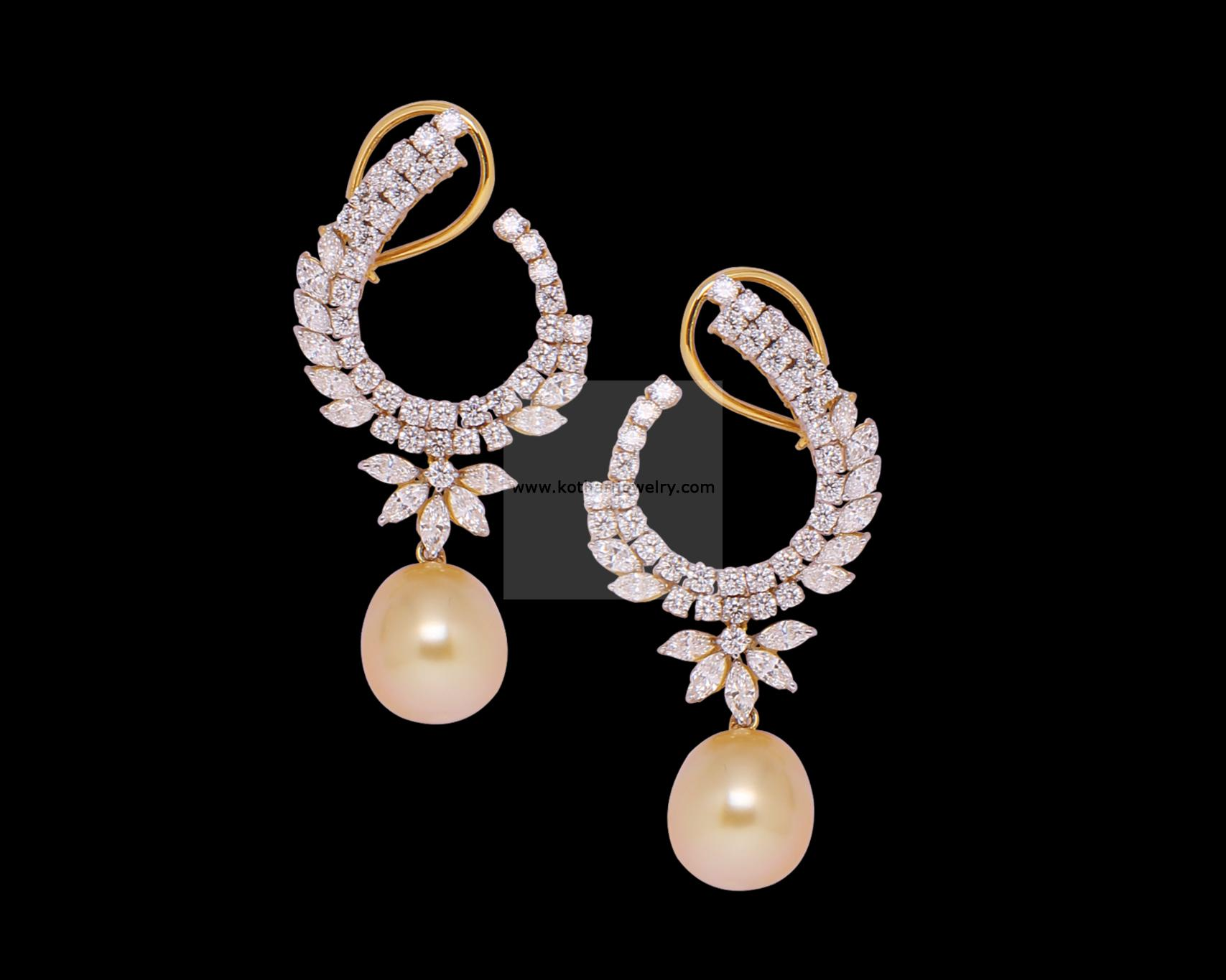diamond ear gold jewels cuffs raj kt jhumka
