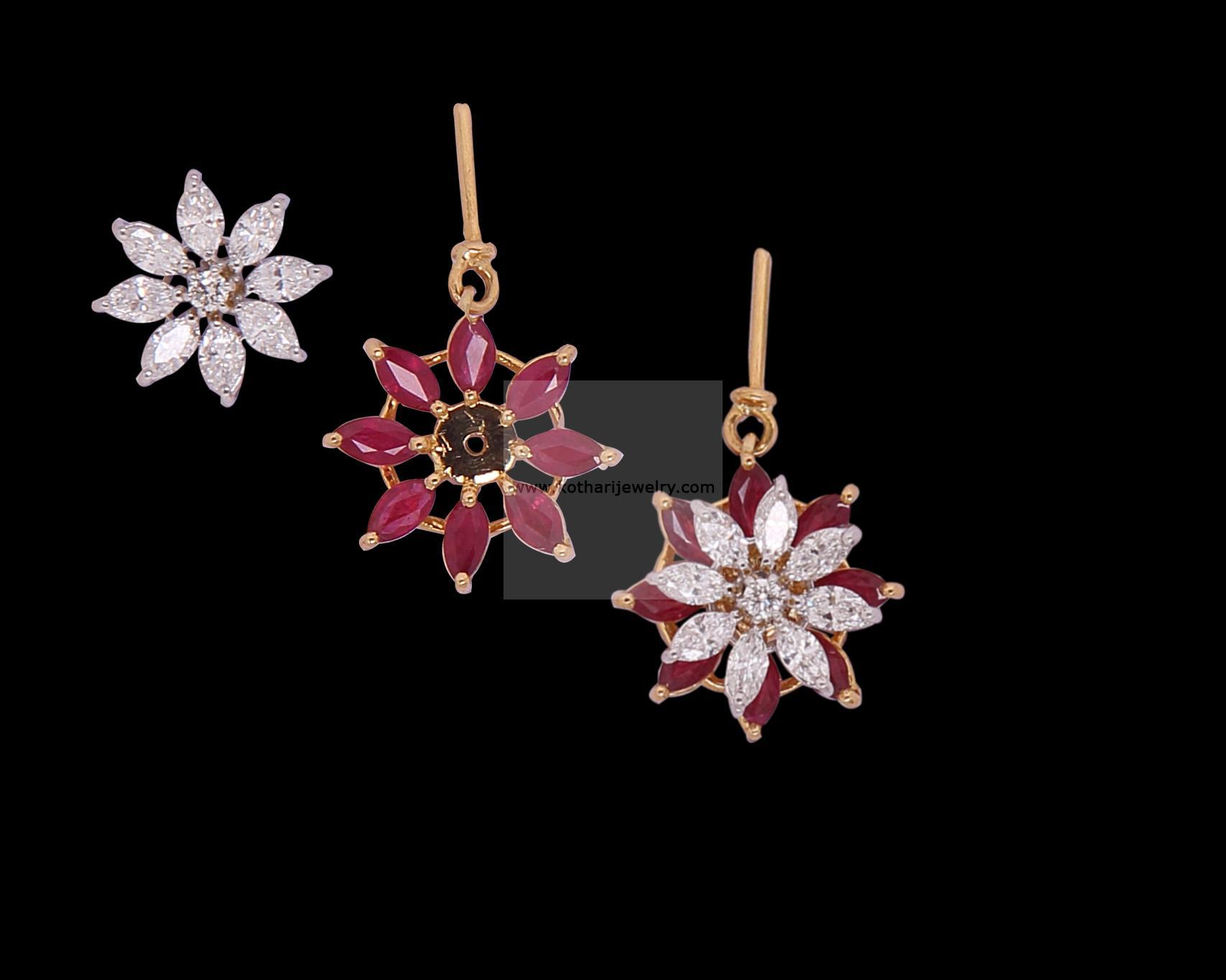Diamond Earrings Designer Diamond Jhumki Diamond Jhumkis with