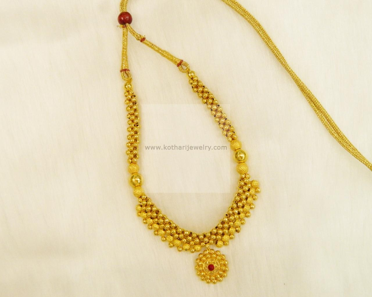 Gold Thusshi Necklace