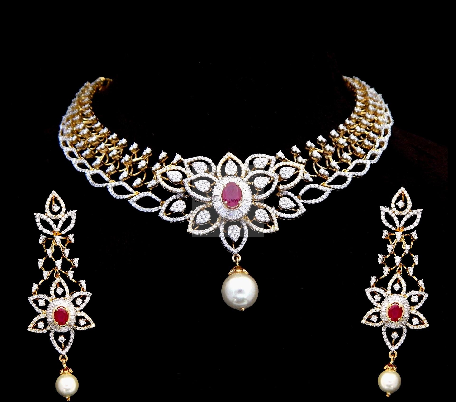 jewellery diamond designs latest new necklace indian