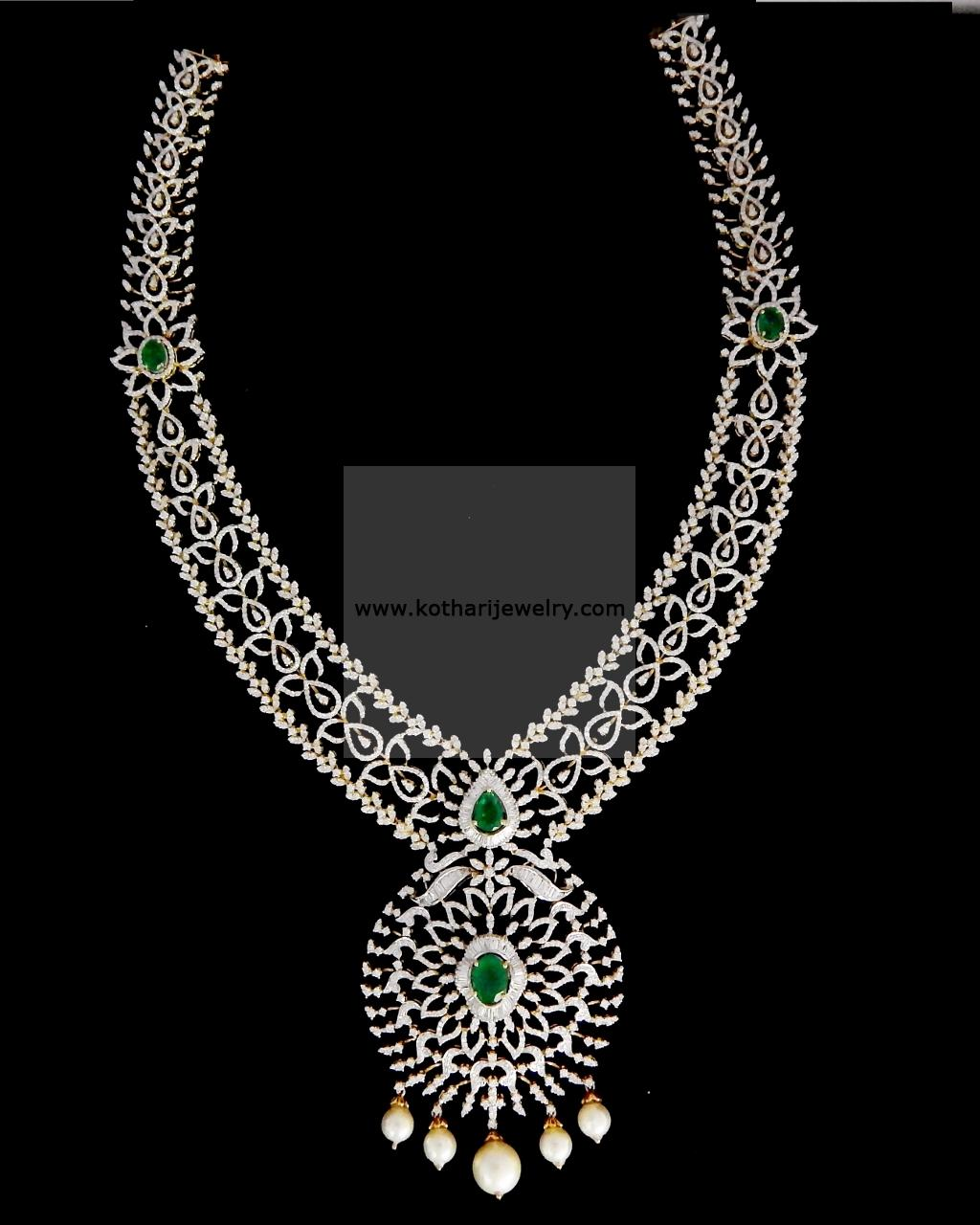 Bridal Diamond Necklace And Haram Set: Bridal Diamond Haram