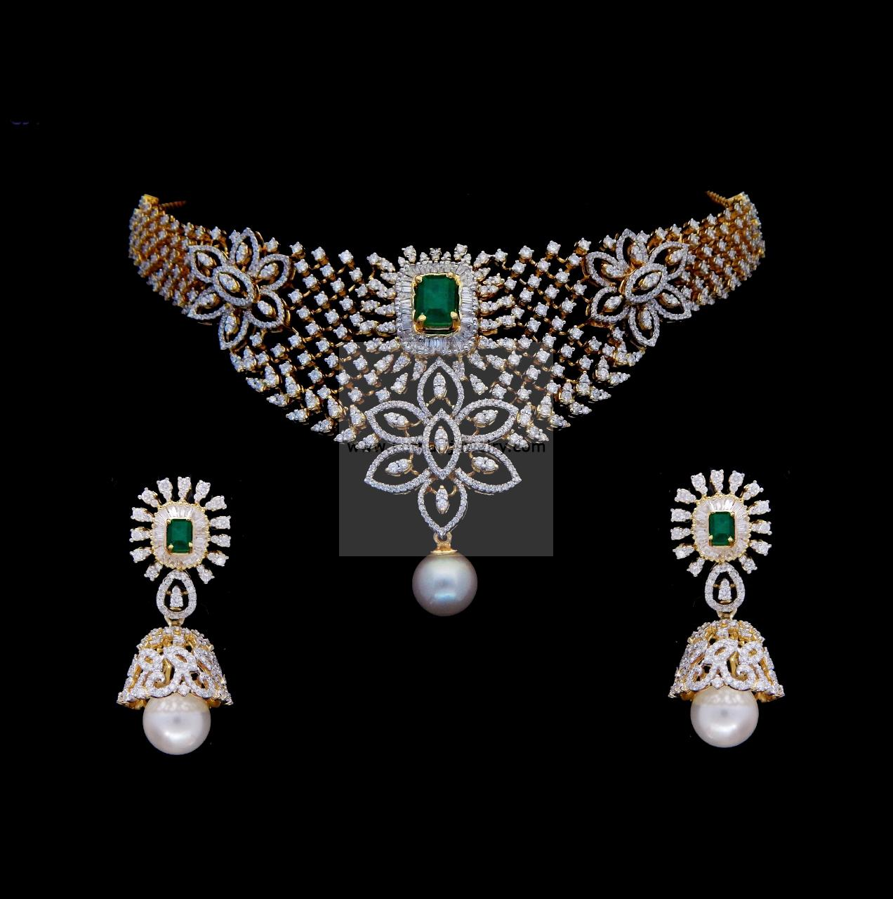 an with indian emerald necklace copy jewellery luis gold white diamond cut and set pendant emeralds miguel brilliant table in jewels diamonds bespoke bronfman howard