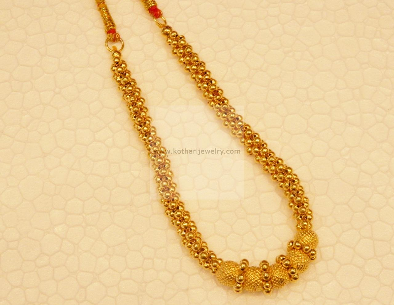 Gold Necklace - Gold thusshi necklace
