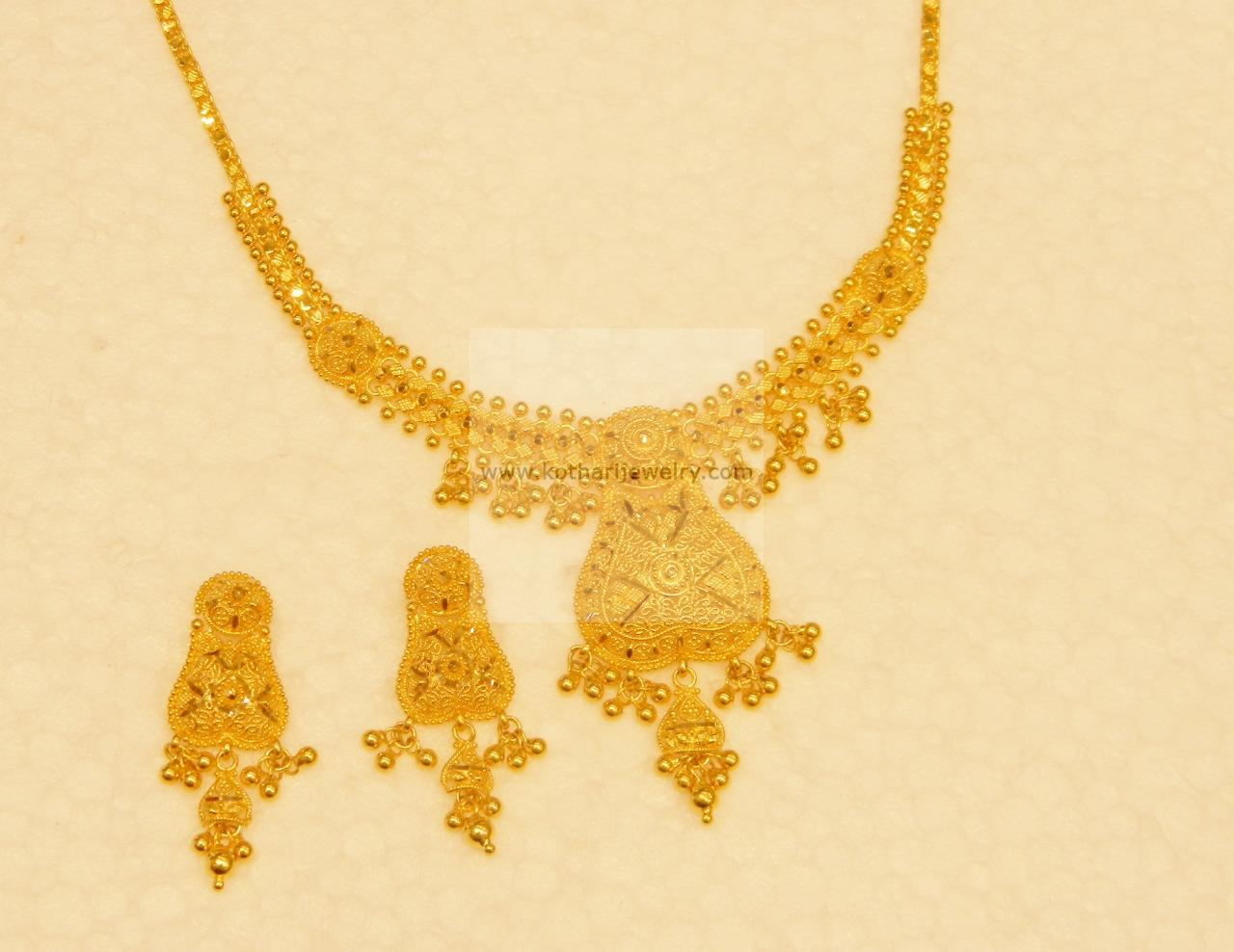 Gold Necklace - lakshmi coin gold necklace, Plain Gold Temple ...