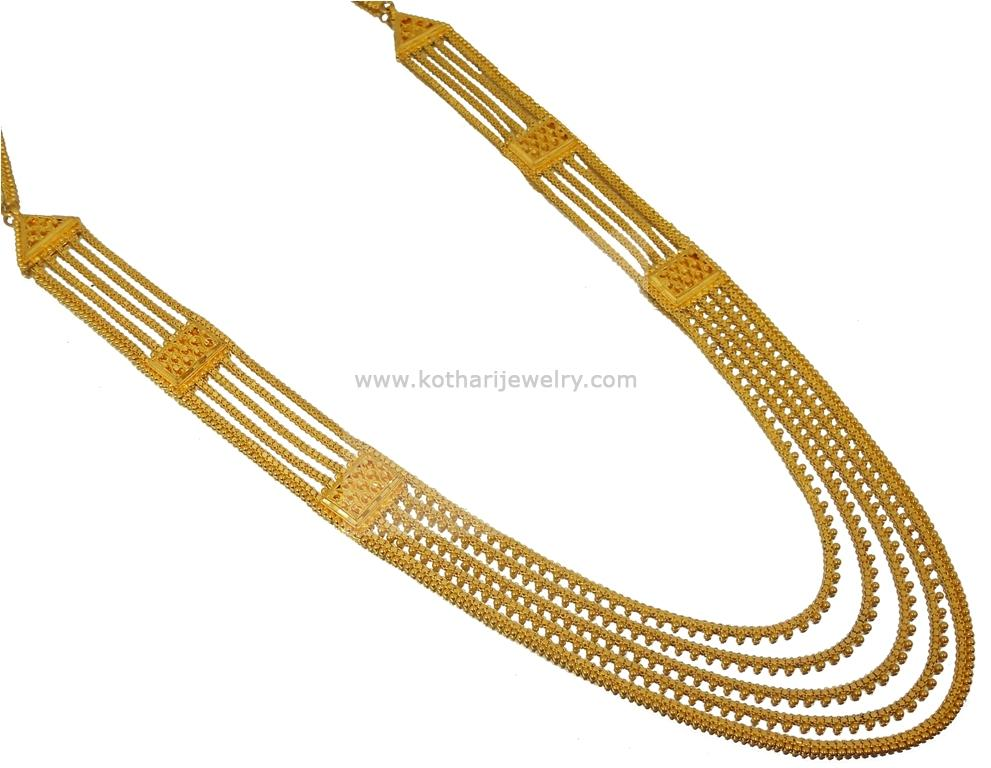 Gold Wedding Rings: 22 K Long Gold Necklace In Indian Rupees