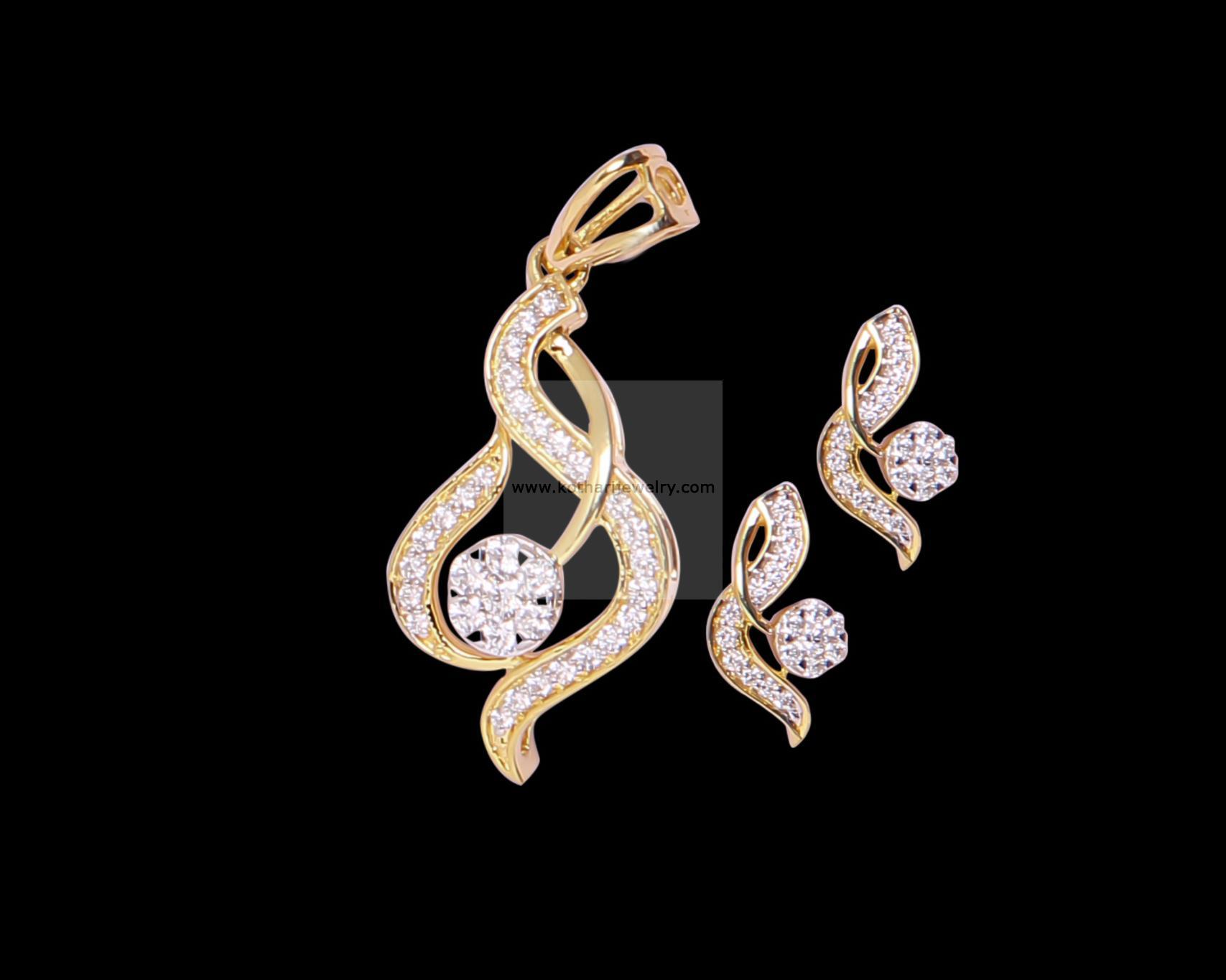 Diamond Pendants Pendant And Earrings Indian